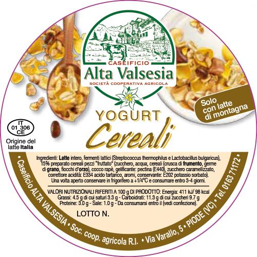 Yogurt Cereali